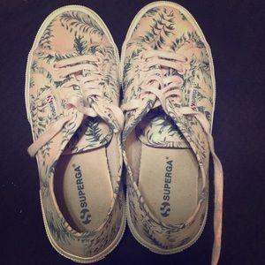 Superga 2750 Canvas Palm Print Shoes
